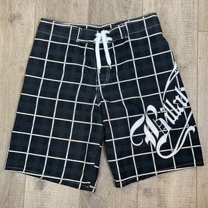 Billabong Black/White Men's Swim Shorts Sz Medium
